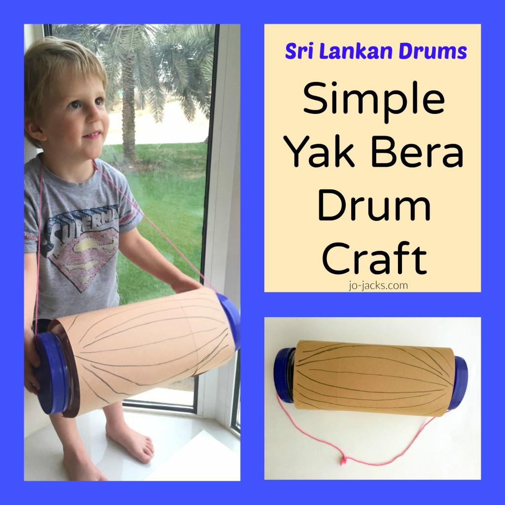 Yak Bera drum craft for kids