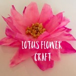 Lotus Flower craft for kids