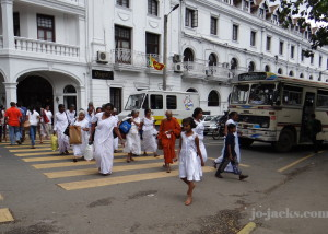 Pilgrims heading to temple