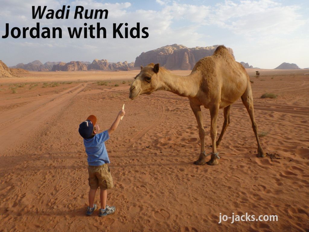 Jordan with Kids - Wadi Rum Camping