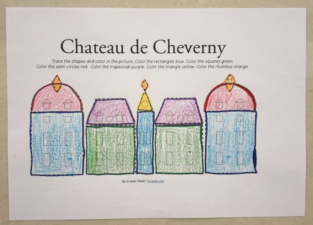 Chateau de Cheverny coloring page