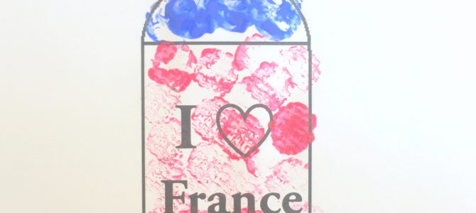 I Love France – Cork Painting & Free Printable