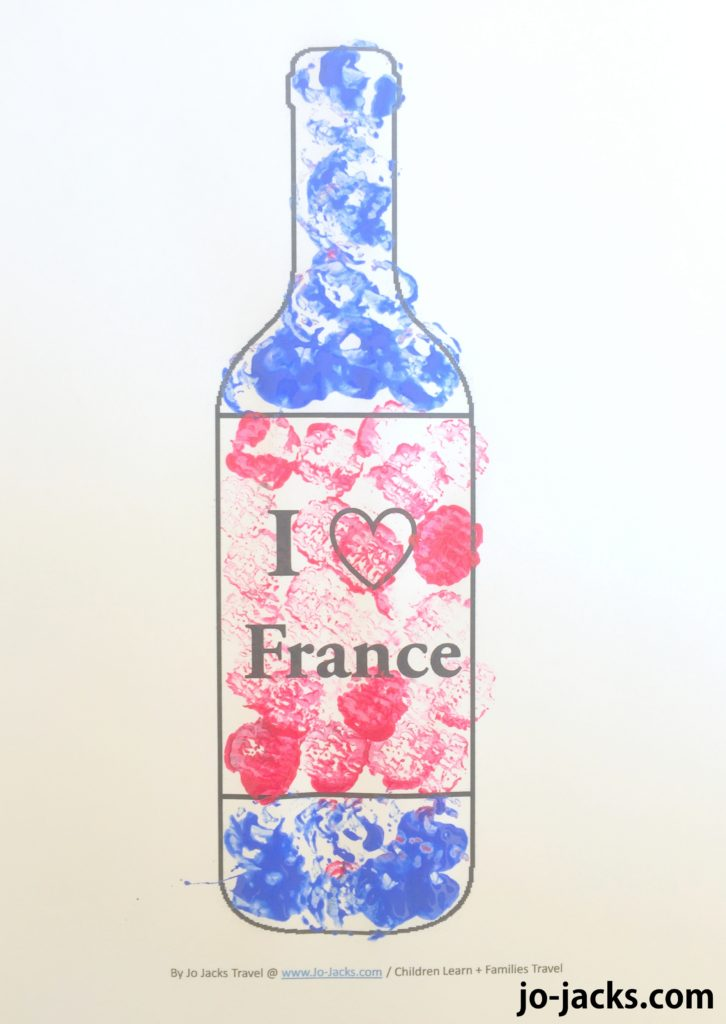cork painting France printable