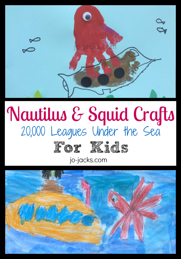 Nautilus Submarine and Squid crafts
